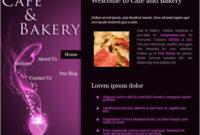 Cafe Bakery Free Website Templates In Css, Html, Js Format with regard to Grocery Store Business Plan Template