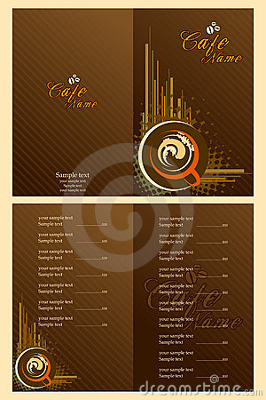 Cafe Menu Card Template Royalty Free Stock Photos - Image in Restaurant Business Cards Templates Free