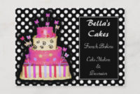 Cake Decorating Business Cards & Profile Cards | Zazzle Ca With Regard To Quality Cake Business Cards Templates Free