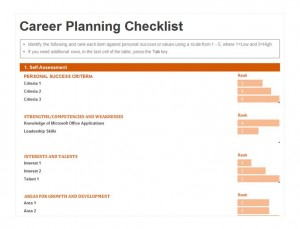Career Planning Checklist | Career Planning Template for Property Development Business Plan Template Free