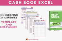 Cash Book In Excel For Tracking Income And Expenses intended for Excel Template For Small Business Bookkeeping
