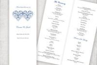 Catholic Wedding Program Template Champagne Scroll for Wedding Ceremony Agenda Template