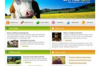Cattle Farm Website Template #11543 pertaining to Livestock Business Plan Template