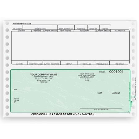 Cb351, Continuous And Dot Matrix Payroll Check throughout Fresh Blank Business Check Template Word