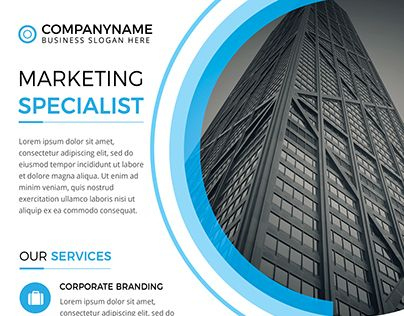 """Check Out New Work On My @Behance Portfolio: """"Corporate within Unique New Business Flyer Template Free"""