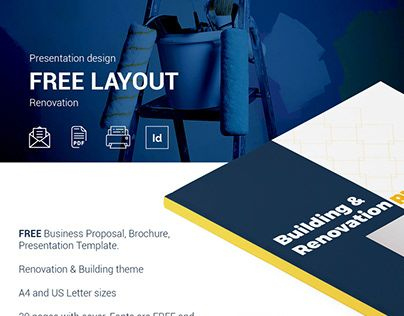 """Check Out New Work On My @Behance Portfolio: """"Free throughout Unique Business Proposal Template Indesign"""