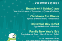 Christmas Flyer, Christmas Flyer Templates - Musthavemenus pertaining to Restaurant Staff Meeting Agenda Template