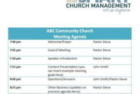Church Forms And Job Descriptions | Smart Church within Board Of Directors Agenda Template