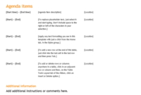 Classic Meeting Agenda – Office Templates in Quality Business Rules Template Word