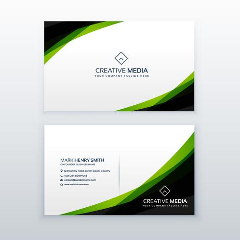 Clean Simple Green Business Card Design Template Inside Free Business Card Templates In Psd Format