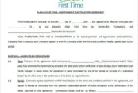 Cleaning Contract Template - 17+   Cleaning Contracts intended for Quality Cleaning Business Contract Template