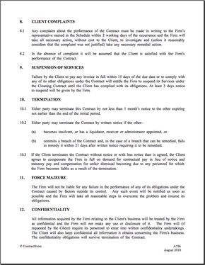 Cleaning Contract Template   Contractstore - Cleaning pertaining to Quality Cleaning Business Contract Template