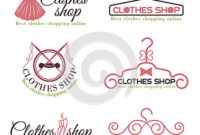 Clothes Shop Fashion Logo Vector Set Design Stock Vector in Clothing Store Business Plan Template Free