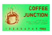 Coffee Drink Punch / Loyalty Card Double-Sided Standard throughout Business Punch Card Template Free