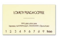 Coffee Loyalty Business Card Punch Card | Loyalty Cards within New Business Punch Card Template Free