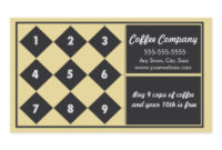 Coffee Punch Card Business Cards & Templates   Zazzle with Unique Coffee Business Card Template Free