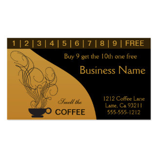 Coffee Shop Punch Card Business Card with regard to Unique Coffee Business Card Template Free