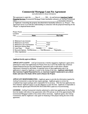 Commercial Loan Package Example To Download In Word & Pdf in New Business Broker Agreement Template