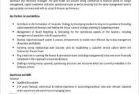 Commercial Manager Job Description Sample – 9+ Examples In With Business Plan For Sales Manager Template