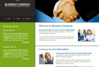 Communications Webpage Template – 3156 – Business Within Unique Free Psd Website Templates For Business