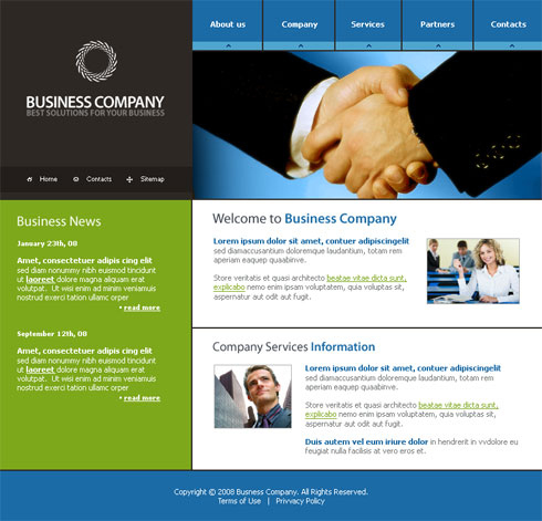 Communications Webpage Template - 3156 - Business within Unique Free Psd Website Templates For Business