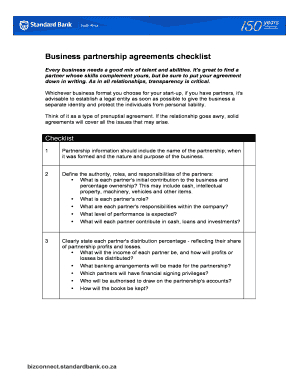 Complete Printable 8 Sample Business Partnership Agreement pertaining to Business Partnership Contract Template Free
