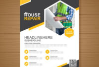 Construction Tools Cover A4 Template And Flat Icons For A pertaining to Construction Business Card Templates Download Free