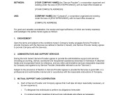 Contract For Logistics Services – Template & Sample Form intended for Staffing Agency Business Plan Template