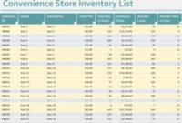 Convenience Store Inventory List Template regarding Bookstore Business Plan Template
