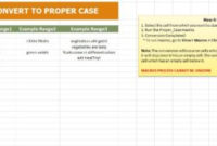Convert To Proper Case Excel Template And Guide regarding Prince2 Business Case Template Word