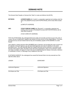 Convertible Note & Debenture - Download Templates for Unique Business In A Box Templates