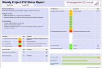 Create Weekly Project Status Report Template Excel with regard to One Page Business Summary Template