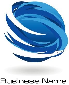 Creative Blue Style Business Logos Vector Set Free Vector with Business Logo Templates Free Download