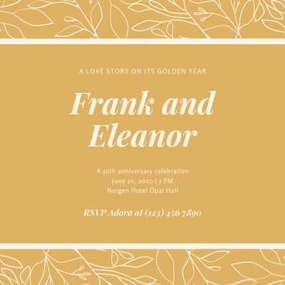 Customize 20+ 50Th Anniversary Invitations Templates pertaining to Fresh Business Open House Invitation Templates Free