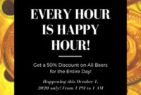 Customize 27+ Happy Hour Flyers Templates Online – Canva throughout Wine Bar Business Plan Template