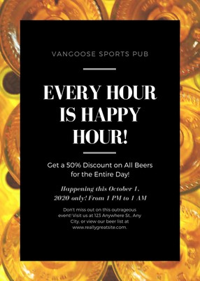 Customize 27+ Happy Hour Flyers Templates Online - Canva throughout Wine Bar Business Plan Template