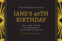 Customize 53+ Great Gatsby Invitations Templates Online with regard to Best Save The Date Business Event Templates