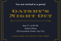 Customize 54+ Great Gatsby Invitations Templates Online within Best Save The Date Business Event Templates