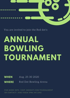 Customize 66+ Bowling Invitations Templates Online - Canva for Best Save The Date Business Event Templates