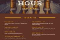 Customize 79+ Bar Menus Templates Online – Canva inside Wine Bar Business Plan Template