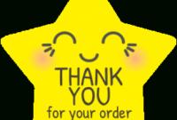 Cutie Pie Star Thank You Sticker Design |Sticker Gizmo in Unique Transparent Business Cards Template