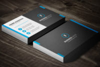 Dark Mosaic Professional Business Card Template » Free Intended For Double Sided Business Card Template Illustrator