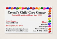 Daycare Business Cards & Templates | Zazzle in Daycare Center Business Plan Template
