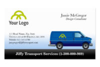 Delivery Service Business Cards & Templates | Zazzle throughout Transport Business Cards Templates Free