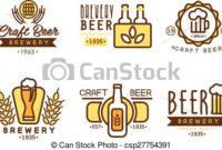 Design Elements For Beer House. Set Of Vintage Badge, Logo inside Brewery Business Plan Template Free