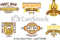Design Elements For Beer House. Set Of Vintage Badge, Logo within Brewery Business Plan Template Free