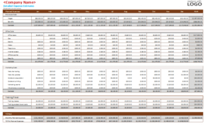 Detailed-Business-Budget-Template with New Business Budgets Templates