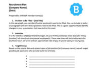 Developing An Employee Recruitment Plan [With Free Template] for Best How To Develop A Business Plan Template