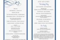 Diyweddingtemplates – Wedding Program Templates for Wedding Agenda Templates