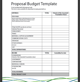 Document Templates: Free Printable Basic Budget Proposal For Proposed Budget Template